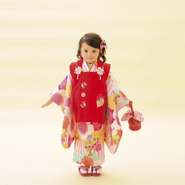 女児3歳 被布セット 43,000円(税別)